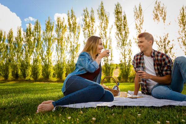 Just us and a picnic Stock photo © iko