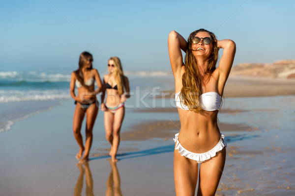 Stock photo: A day on the beach