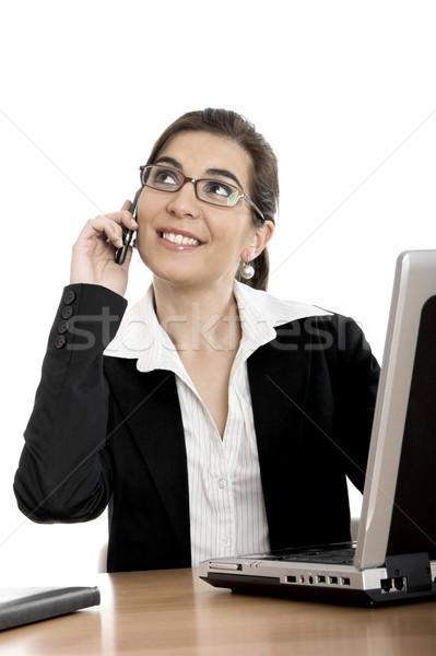 Mulher chamar belo negócio mulheres Foto stock © iko