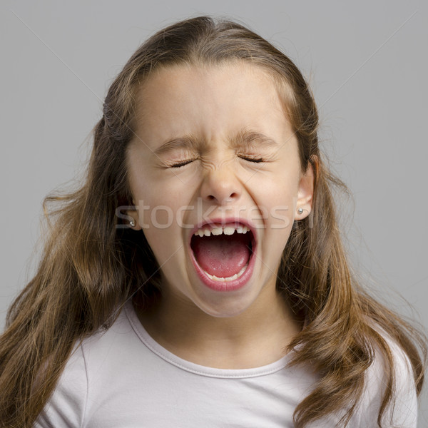 Girl yelling Stock photo © iko