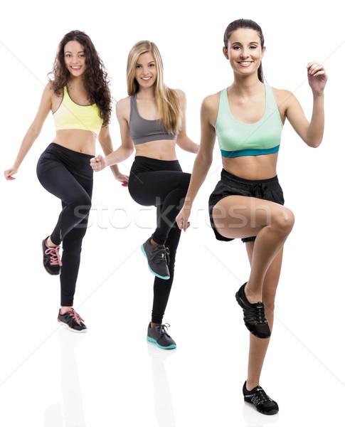 Group exercise classes Stock photo © iko