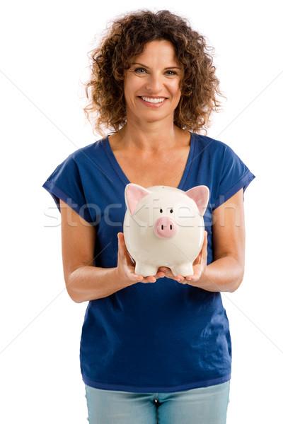 Photo stock: économies · avenir · portrait · heureux