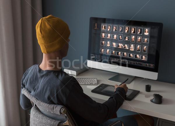 Working with digital photography Stock photo © iko