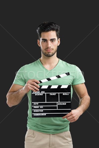 Jovem diretor cara retrato bonito moço Foto stock © iko