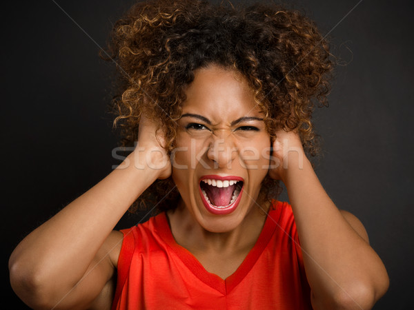 Angry woman yelling Stock photo © iko