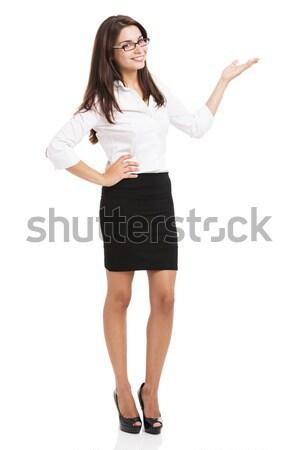 Business woman making a presentation Stock photo © iko