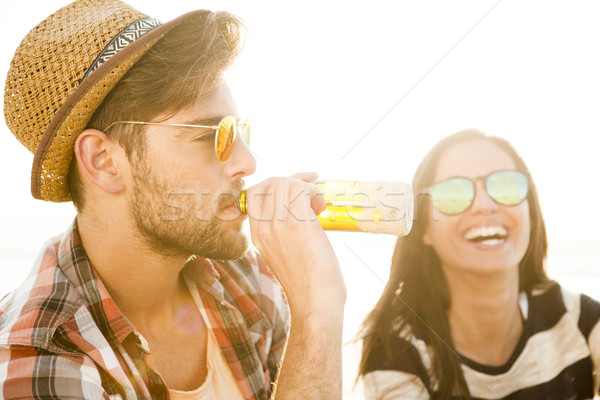 Couple having great time together Stock photo © iko