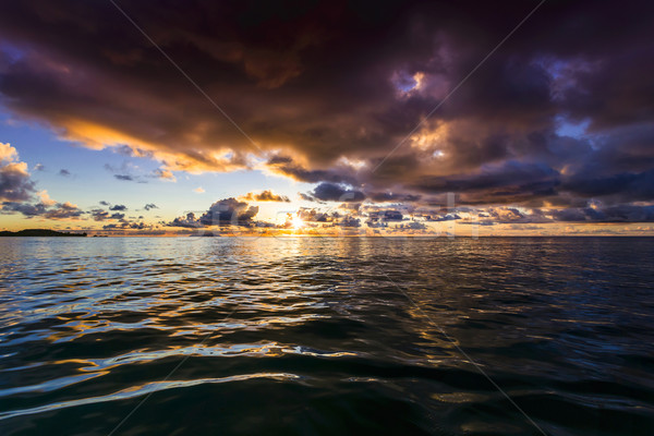 Sunset colors of Seychelles Stock photo © iko