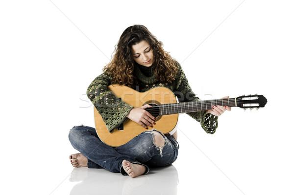 Playing guitar Stock photo © iko