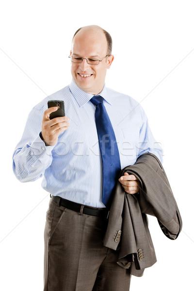 Geschäftsmann Geschäftsmann isoliert Stock foto © iko