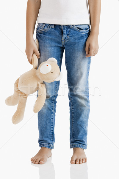 Alone with her teddy bear Stock photo © iko