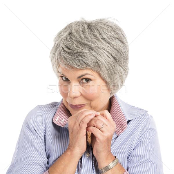 смешное лицо портрет женщину лице Сток-фото © iko