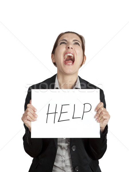Stock photo: Help me please!