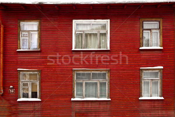 Wood house Stock photo © iko