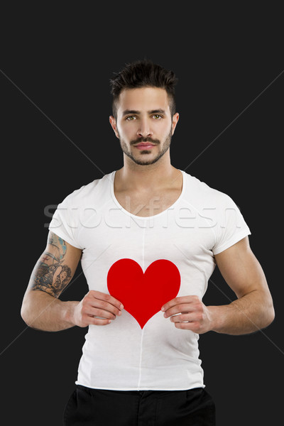 Handsome young man in love Stock photo © iko