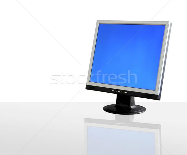 Lcd exibir isolado branco reflexão internet Foto stock © iko
