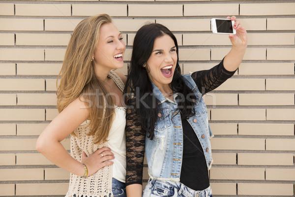 Naughty girls Stock photo © iko