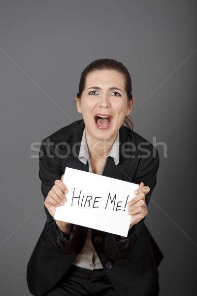 Hire me please!!! Stock photo © iko