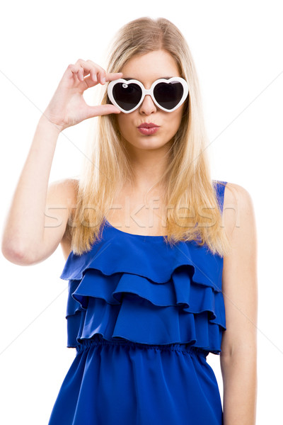 Fashion woman with sunglasses Stock photo © iko