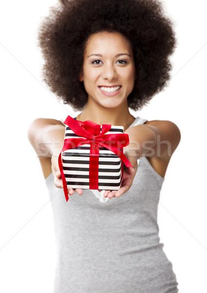 подарок красивой изолированный белый Сток-фото © iko