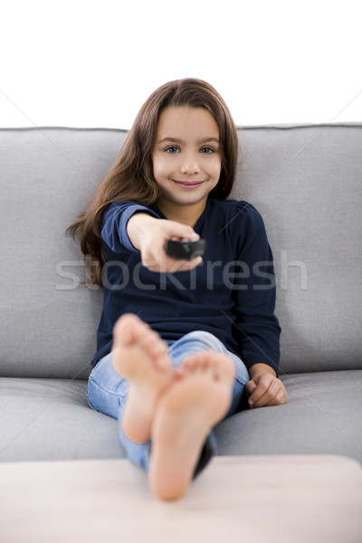 Ragazza bambina controllo bambini Foto d'archivio © iko