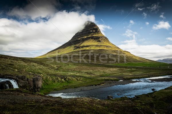 Vulkaan mooie IJsland hemel voorjaar natuur Stockfoto © iko