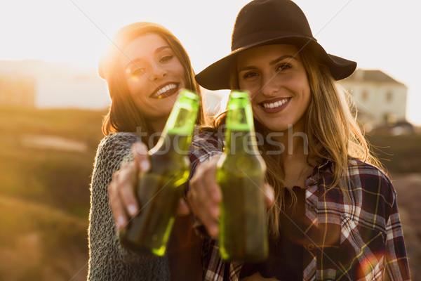 Enjoying life with a toast Stock photo © iko