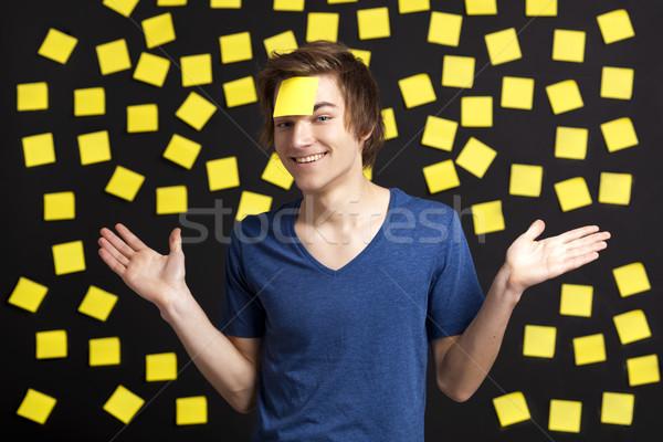 Besoin rappel heureux étudiant tête plus Photo stock © iko