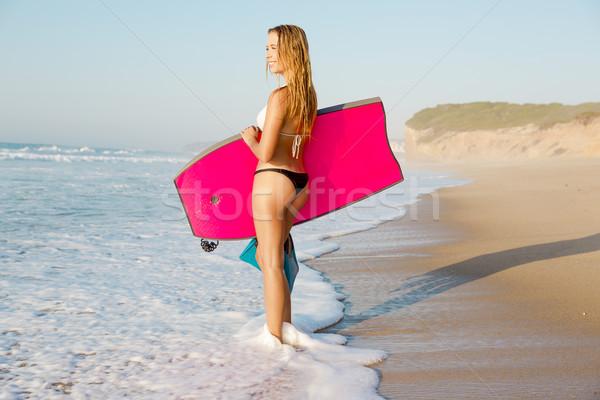 Female bodyboarder Stock photo © iko