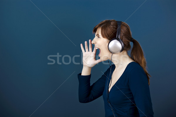 Yelling loud Stock photo © iko
