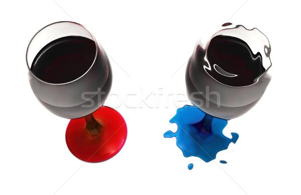 Кубок вино деформированное воды свет домой Сток-фото © iko