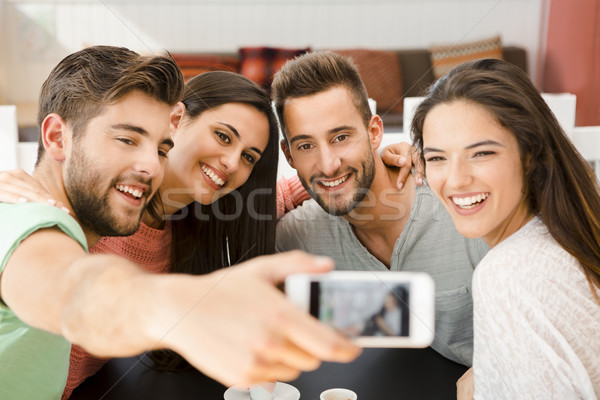 Friends making a selfie Stock photo © iko