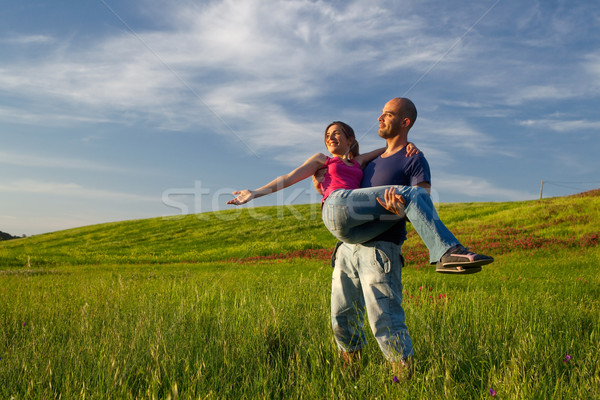 Young couple in love Stock photo © iko