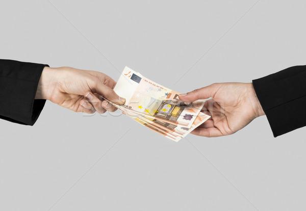Geld uitwisseling afbeelding handen betaling Stockfoto © iko