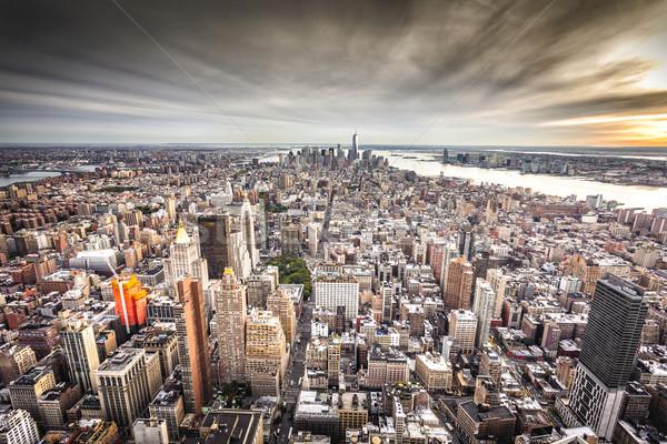 üst görmek New York vardiya bulanıklık gökyüzü Stok fotoğraf © iko