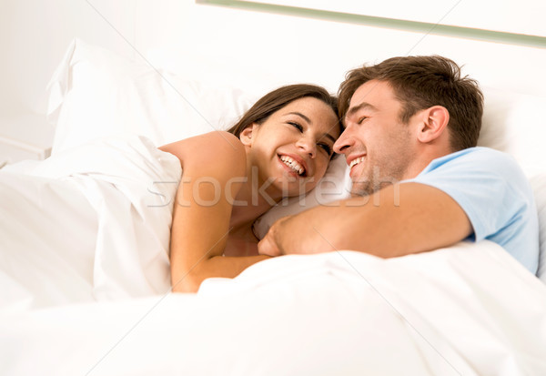 Dating on bed Stock photo © iko