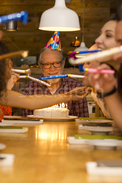 Birthday Grandfather Stock photo © iko