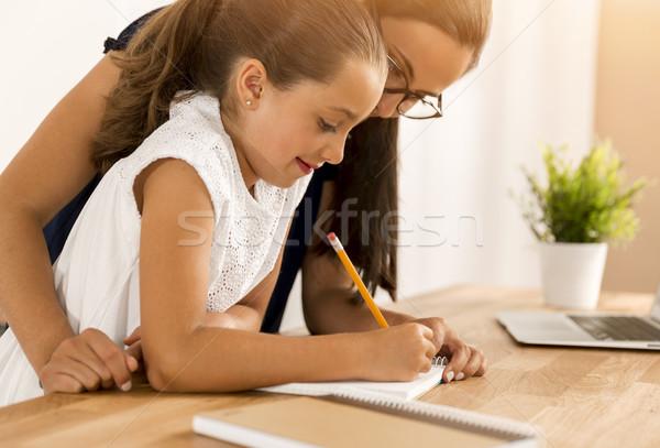 Making my homework Stock photo © iko