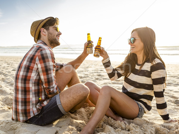 Couple on the beach Stock photo © iko