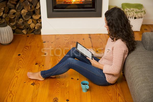Enjoying a winter day at home Stock photo © iko