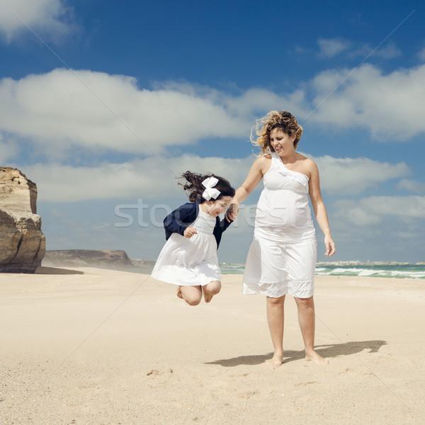 Playing on the beach Stock photo © iko