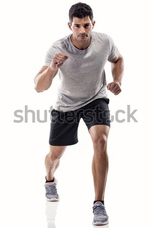 Athletic man running Stock photo © iko
