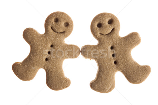 Zencefilli çörek kurabiye ev yapımı gingerbread man kurabiye yalıtılmış Stok fotoğraf © iko