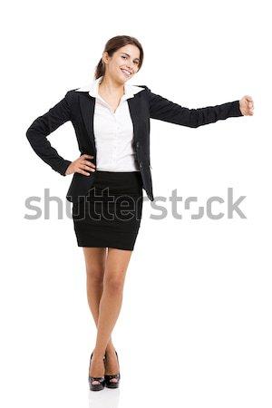 Mujer de negocios algo hermosa hispanos sonriendo Foto stock © iko