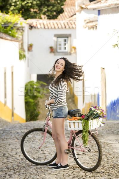 Vida como local hermosa femenino turísticos Foto stock © iko