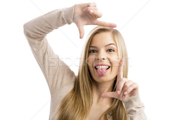 Cute teenager Stock photo © iko