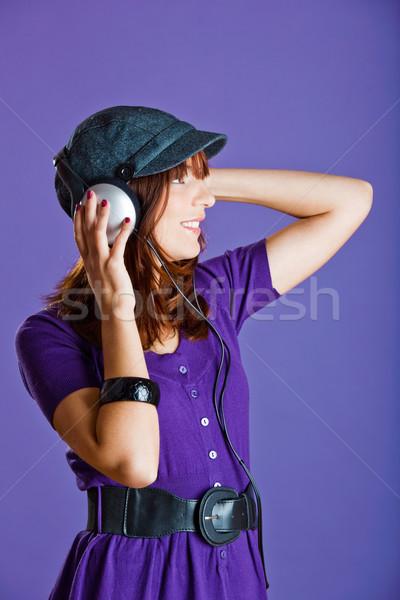 美人 リスニング 音楽 美しい 幸せ 若い女性 ストックフォト © iko