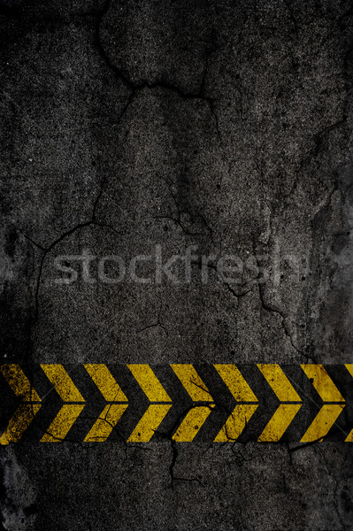 Photo stock: Asphalte · texture · construction · signes · mur · design