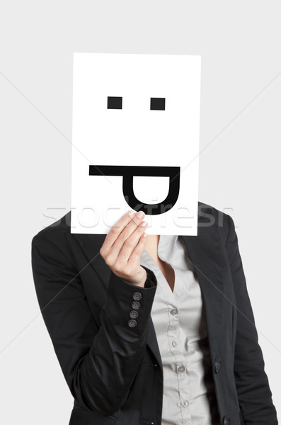 Silly emoticon Stock photo © iko