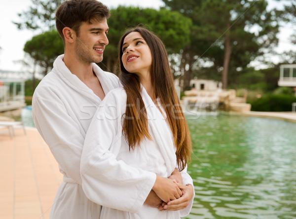 Young couple enjoying vacations Stock photo © iko
